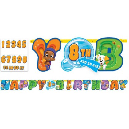 Bubble Guppies™ Party Jumbo Add-An-Age Letter Banner - Printed Paper