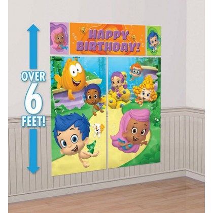 Bubble Guppies™ Party Scene Setters® Wall Decorating Kit - Plastic