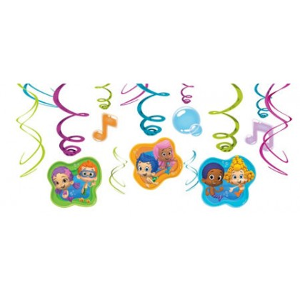 Bubble Guppies™ Party Value Pack Foil Swirl Decorations