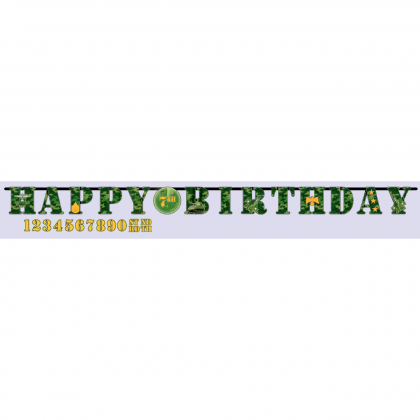 Camouflage Jumbo Add-An-Age Letter Banner - Printed Paper