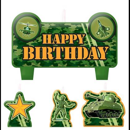 Camouflage Birthday Candle Set