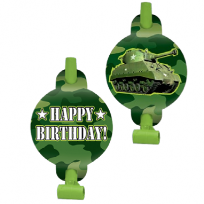 Camouflage Happy Birthday Blowouts