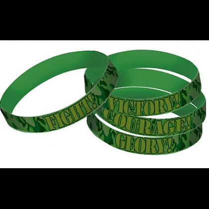 Camoflage Rubber Bracelet Favors
