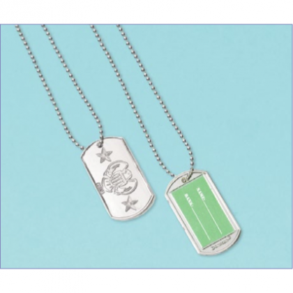 Camouflage Electroplated Dog Tag Favors