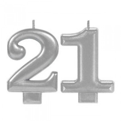 21st Brilliant Birthday Numeral Candles