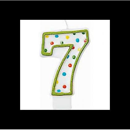 "3"" Polka Dots Flat Molded Birthday Candles #7"