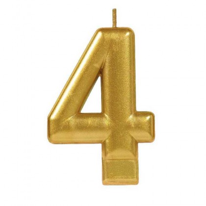 Numeral Candles Gold Metallic #4