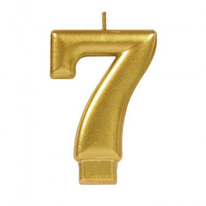 Numeral Candles Gold Metallic #7