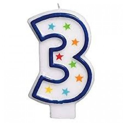 Star Glitter Flat Moulded Birthday Candles #3