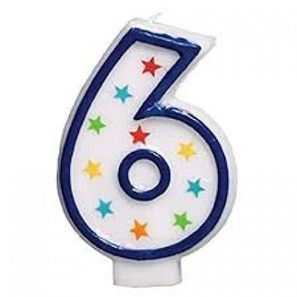 Star Glitter Flat Moulded Birthday Candles #6