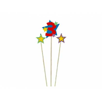 Candle Birthday Pick Star #3