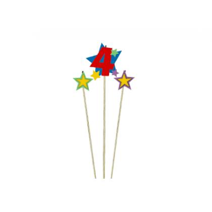 Candle Birthday Pick Star #4
