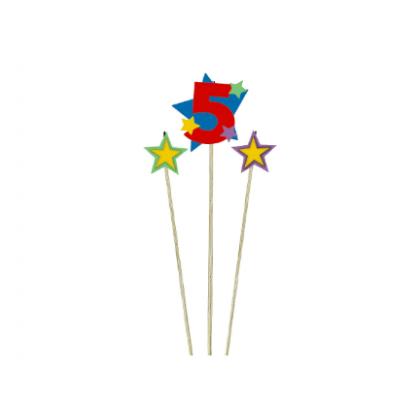 Candle Birthday Pick Star #5