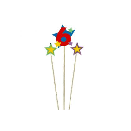 Candle Birthday Pick Star #6