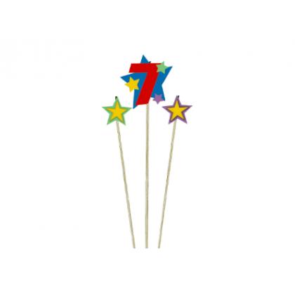 Candle Birthday Pick Star #7