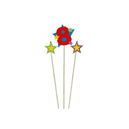 Candle Birthday Pick Star #8