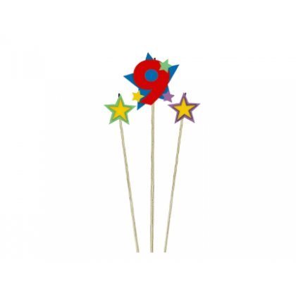 Candle Birthday Pick Star #9