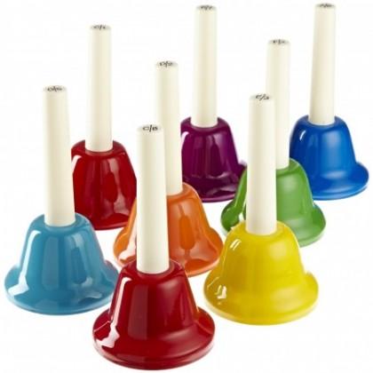 Colourful Handbells Set - 8 Notes