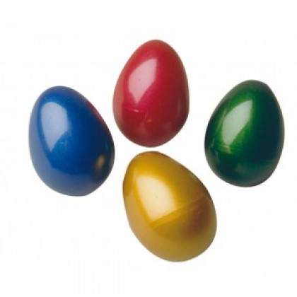 Egg Maracas (Dark Green/Dark Blue/Maroon/Bright Bubble Pink)