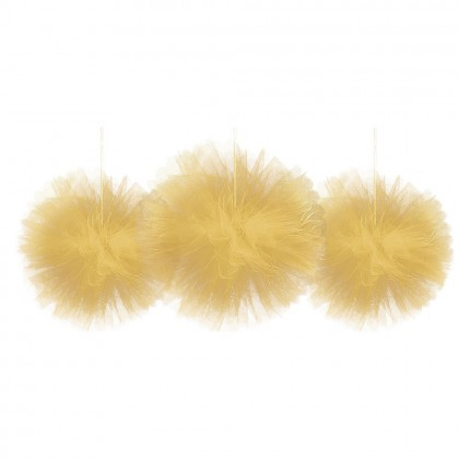 Fluffy Decorations Tulle - Gold