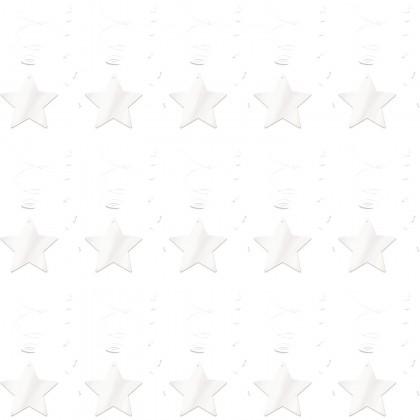 Shooting Stars MVP Swirl Decorations - Frosty White
