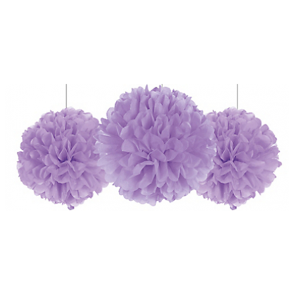 """16"""" Fluffy Decorations - Lilac/Lavender Tissue Paper"""