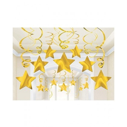 30 Swirl Decorations - Yellow Sunshine