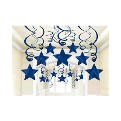Shooting Stars MVP Swirl Decorations - Bright Royal Blue
