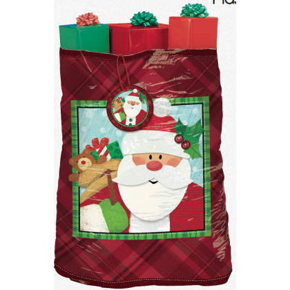 "44"" x 56"" Crafty Christmas Super Giant Plastic Gift Sacks"