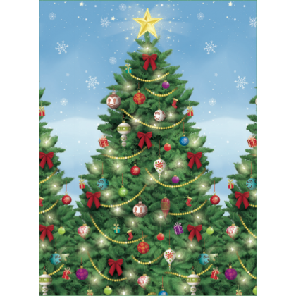 "48"" x 40' Evergreen Christmas Scene Setters® Room Roll - Plastic"