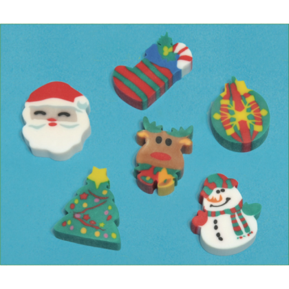 "1 1/2"" Holiday Fun Eraser"