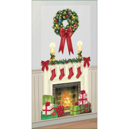 "65"" x 33 1/2"" Holiday Hearth Scene Setters® Add-Ons - Plastic"