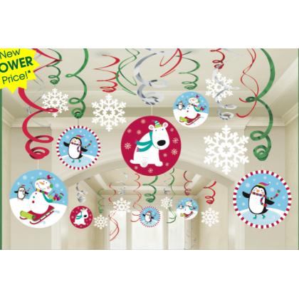 Joyful Snowman MVP Hanging Swirl Decs. Foil