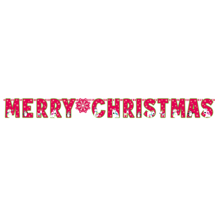 """10' x 12 3/4"""" Merry Christmas Giant Letter Banner - Printed Paper"""