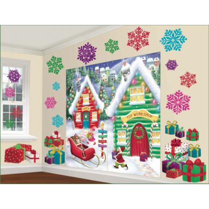 North Pole Scene Setters® Mega Value Wall Decorating Kit