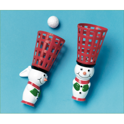 "10"" x 2 3/4"" Snowman Pop/Catch"