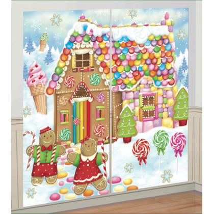 "65"" x 33 1/2"" Sweet Holiday Scene Setters® Add-Ons - Plastic"