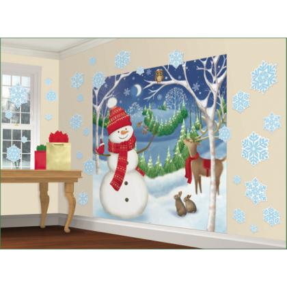 Winter Friends Scene Setters® Mega Value Wall Decorating Kit