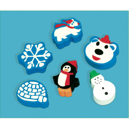 "1 1/2"" Winter Fun Eraser"