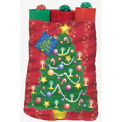 "44"" x 36"" Christmas Tree Giant Plastic Gift Sacks"