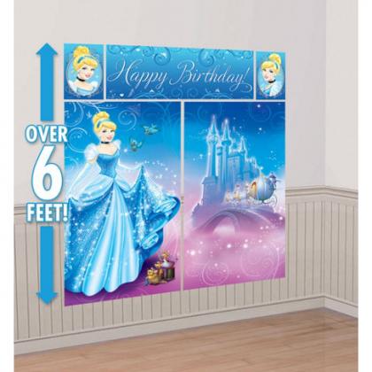 ©Disney Cinderella Scene Setters® Wall Dec. Kit - Plastic