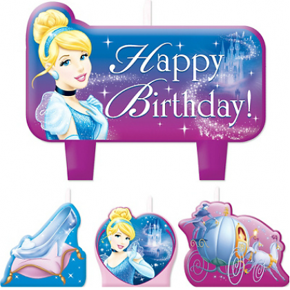 ©Disney Cinderella Birthday Candle Set