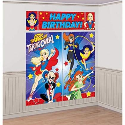 DC Super Hero Girls™ Scene Setters® Wall Decorating Kit