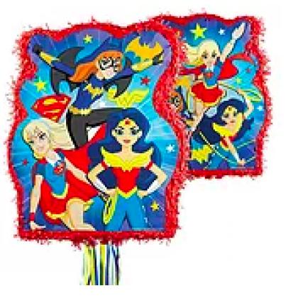 DC Super Hero Girls™ Licensed Outline Pull Piñata