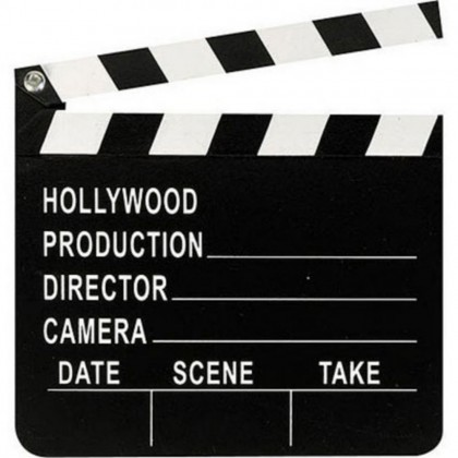 Lights! Camera! Action! Director's Clapboard
