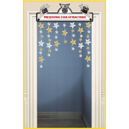 "48"" x 36"" Lights! Camera! Action! Door Decoration - Foil & Cardboard"