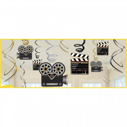Lights! Camera! Action! Value Pack Foil Swirl Decorations