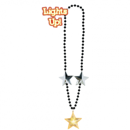 "40"" Jumbo Bead Necklace w/Light-Up Star"