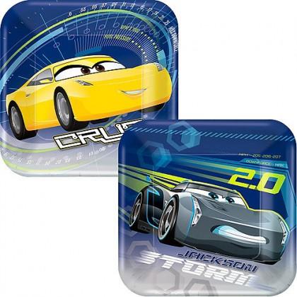 "Disney/Pixar Cars 3 Square Plates, 7"""