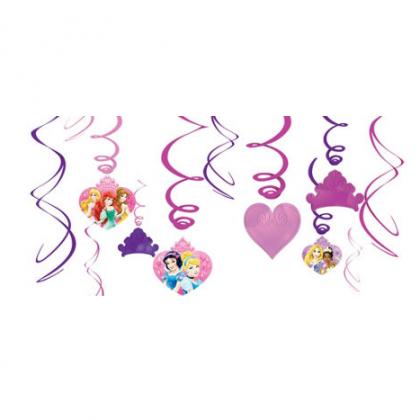 ©Disney Sparkle Princess Foil Swirl Value Pack Decorations